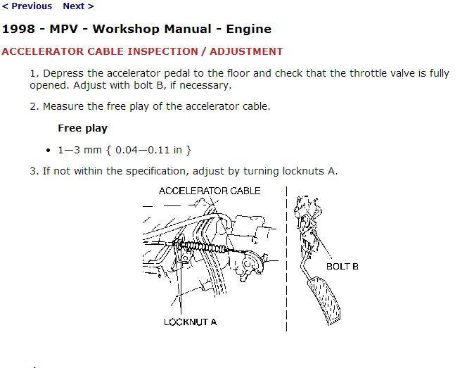 1996-1998 Mazda MPV Service Manual CD ROM workshop repair 3.0L V6 1997