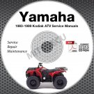 1993-1999 Yamaha KODIAK YFM400 4WD ATV Service Manual CD repair shop High Def