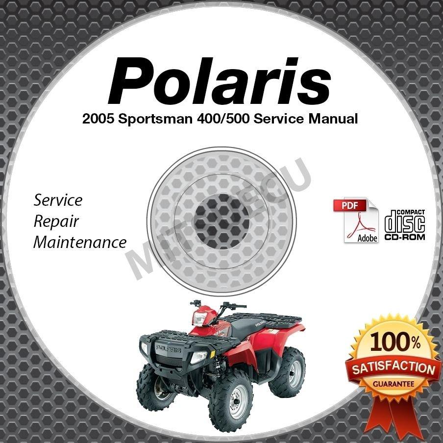 2005 Polaris SPORTSMAN 400/500 Service Manual CD ROM ATV repair shop 9919425