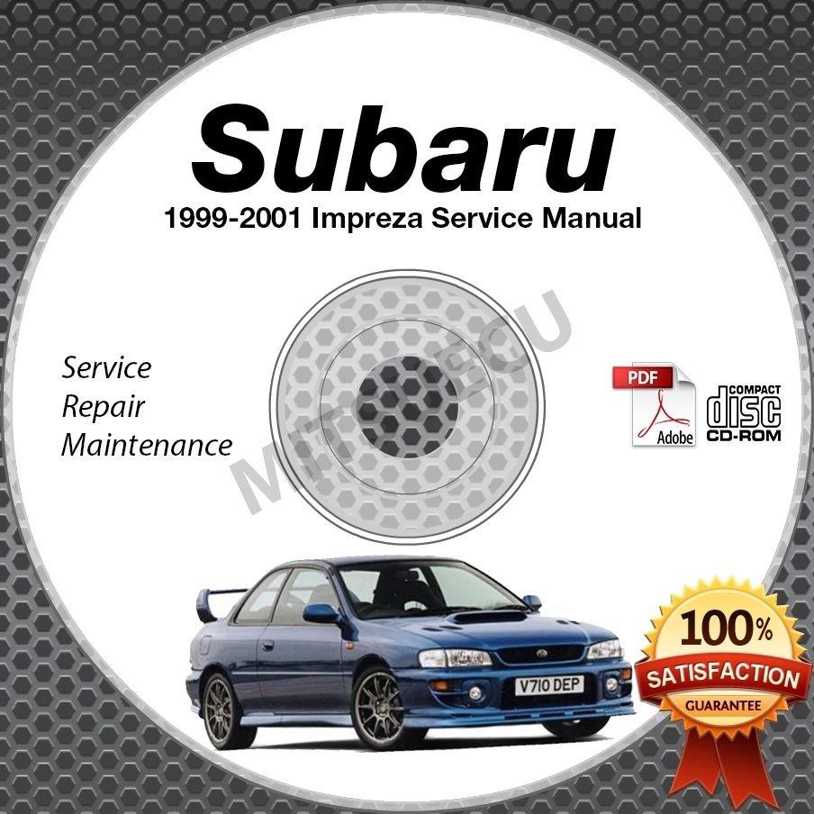 1999-2001 SUBARU IMPREZA L 2.5RS Service Manual CD repair workshop 2.2L 2.5L 00
