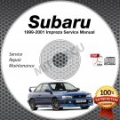 1999-2001 SUBARU IMPREZA L 2.5RS Service Manual CD repair workshop 2.2L 2.5L 00