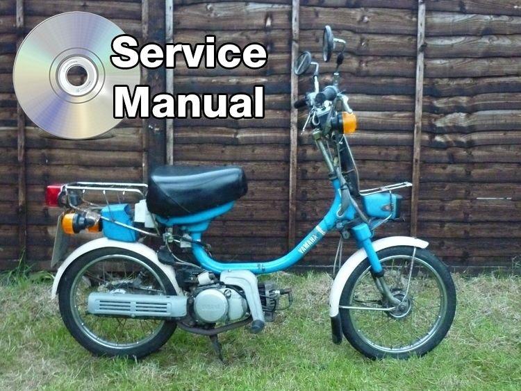 1984-1987 Yamaha YAMAHOPPER QT50 High Def. Service Manual CD repair shop 85 86