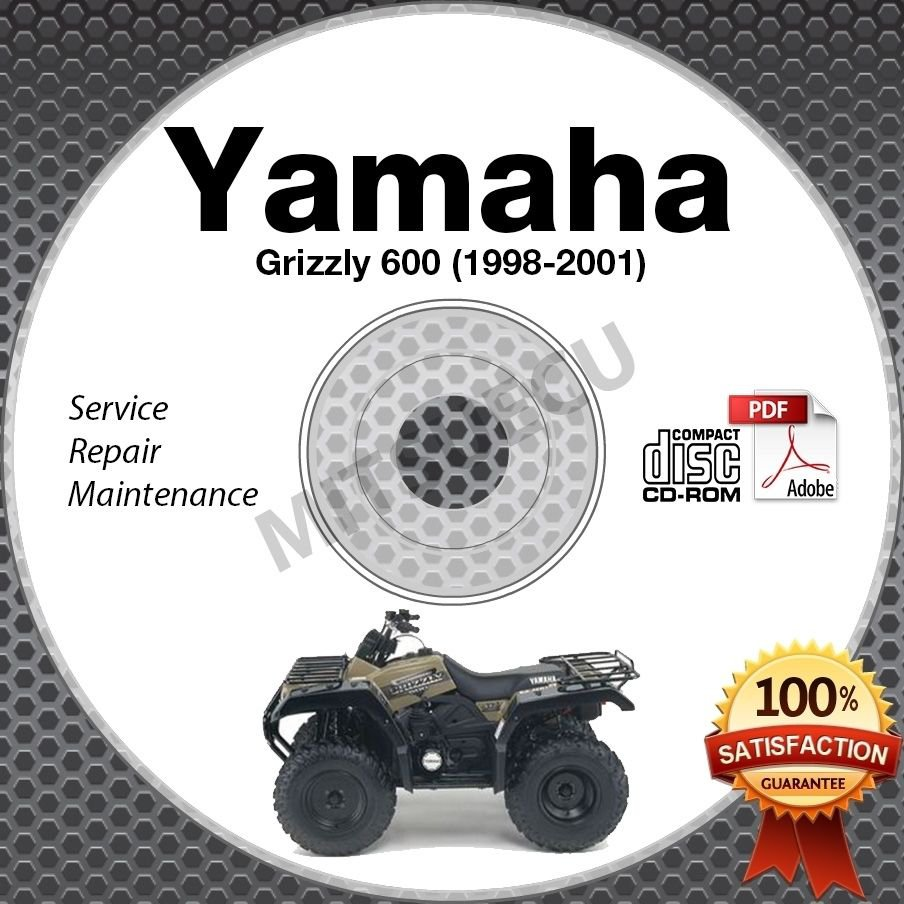 1998-2001 Yamaha Grizzly 600 Service Manual CD ROM YFM600 repair shop 1999 2000