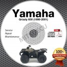 1998-2001 Yamaha Grizzly 600 Service Manual CD ROM YFM600 repair shop 1999 2000