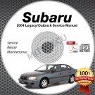 2004 SUBARU LEGACY & OUTBACK OEM Service Manual CD ROM 2.0L 2.5 3.0L repair shop