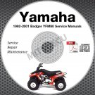 1992-2001 Yamaha BADGER YFM80 Service Manual CD repair shop 93 94 95 96 97 98 99