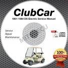 1981-1984 Club Car DS Golf Car Electric Service Manual CD ROM repair shop cart