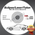 1990-1991 Mitsubishi Eclipse Talon Laser Service Manual CD ROM workshop repair