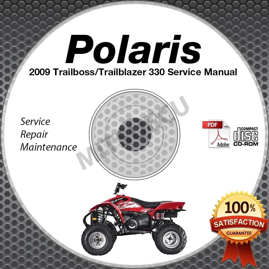 2009 Polaris Trail Boss & Trail Blazer 330 Service Manual CD ROM ATV repair shop