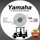 1983-1989 Yamaha G1 Golf Cart (Gas/Electric) Service Manual CD ROM G1-A G1-E