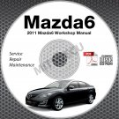 2011 Mazda6 Service Manual CD ROM workshop repair MZR 2.5L 3.7L NEW!