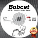 Bobcat 337 / 441 Excavator Service Manual CD ROM SN 234X11001 and UP repair shop