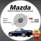 2009 Mazda Miata MX-5 Service Manual CD Workshop Repair 2.0L NC *NEW* High Def