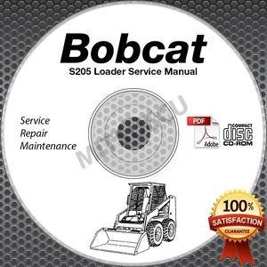 Bobcat S205 Skid Steer Loader Service Manual CD ROM (SN 5305/6 11001-59999) shop