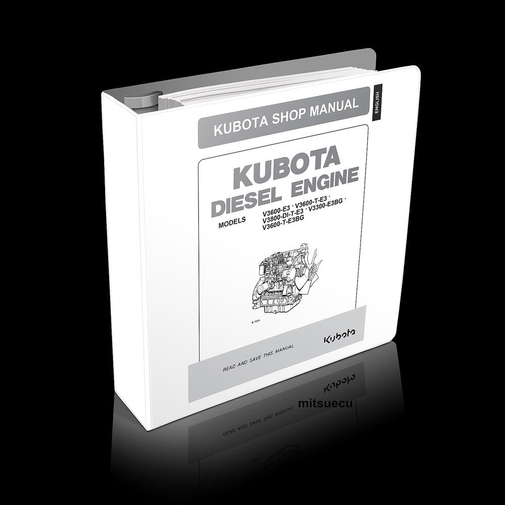 Kubota V3300, V3600, V3800 Diesel Engine Workshop Manual shop repair
