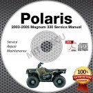 2003-2005 Polaris Magnum 330 Service Manual CD ROM 2x4 4x4 HDS repair 2004 ATV