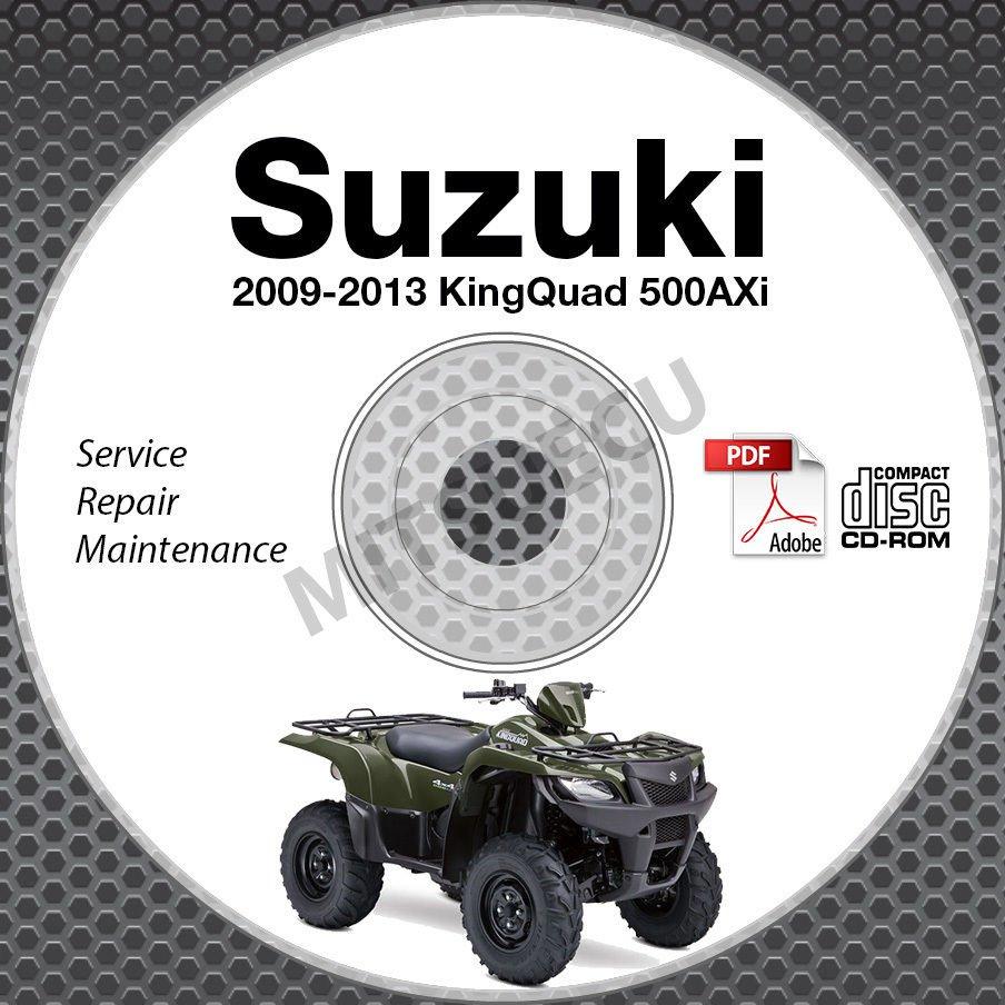 2009-2013 Suzuki KingQuad 500 AXi LT-A500 Service Manual CD ROM repair LTA500XP