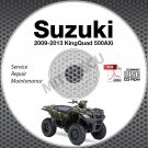 2009-2013 Suzuki KingQuad 500 AXi LT-A500 Service Manual CD ROM repair LTA500XP