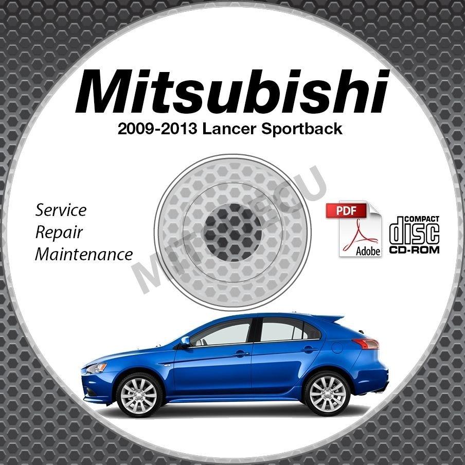 2009-2013 Mitsubishi Lancer Sportback Wagon Service Manual CD repair 2010 2011
