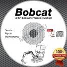 Bobcat X 231 Excavator Service Manual CD (S/N 5089 11999 & below) repair shop