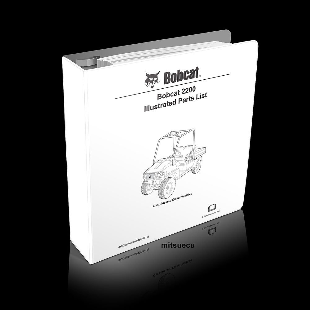 Bobcat 2200 UTV Parts Manual 103209012 (SN A59Z/A59Y 11001 and up) catalog new