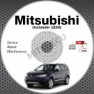 2006 Mitsubishi Outlander USA/ EUROPE Service Manual CD ROM repair workshop