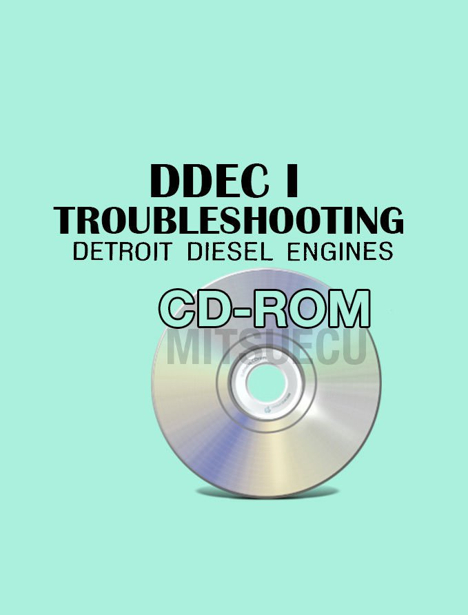 Detroit Diesel DDEC I Troubleshooting Guide CD ROM 1985 pub. diagnostics repair