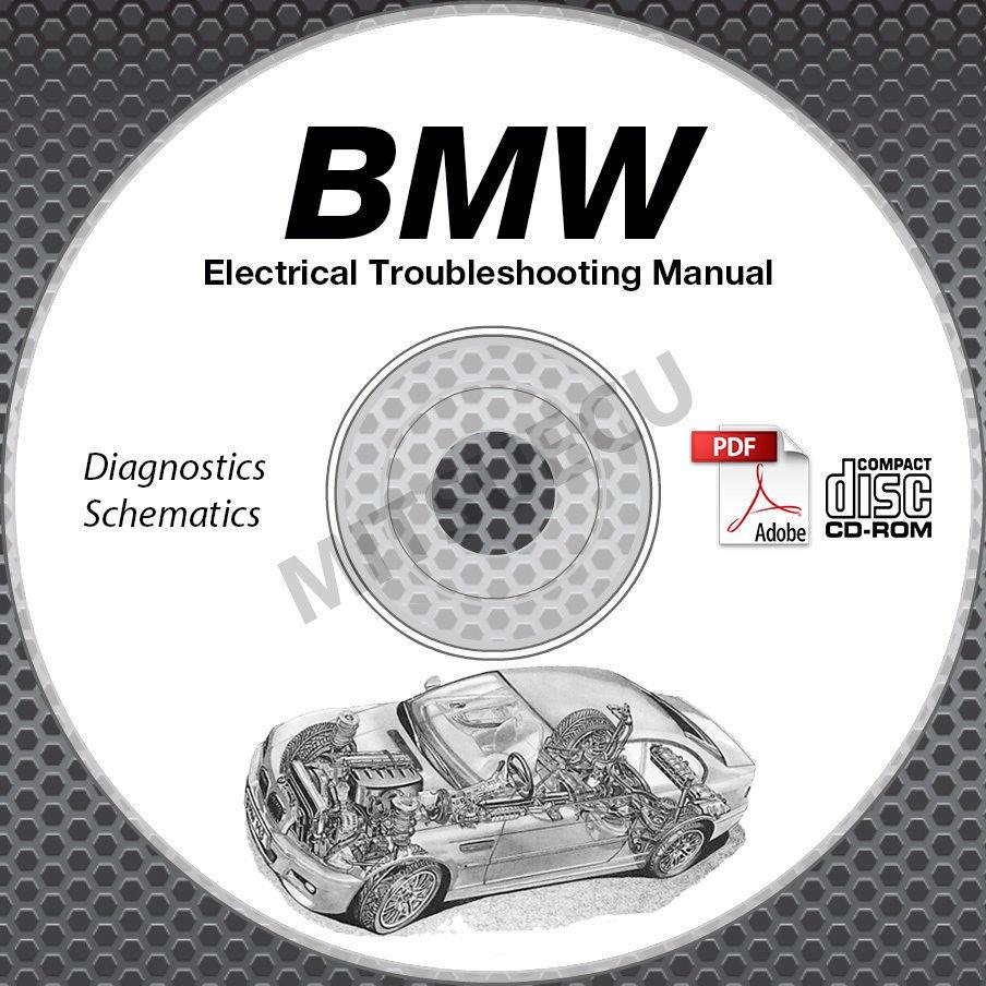1982-1986 BMW E23 Electrical Troubleshooting Manual CD wiring diagnostics 733i