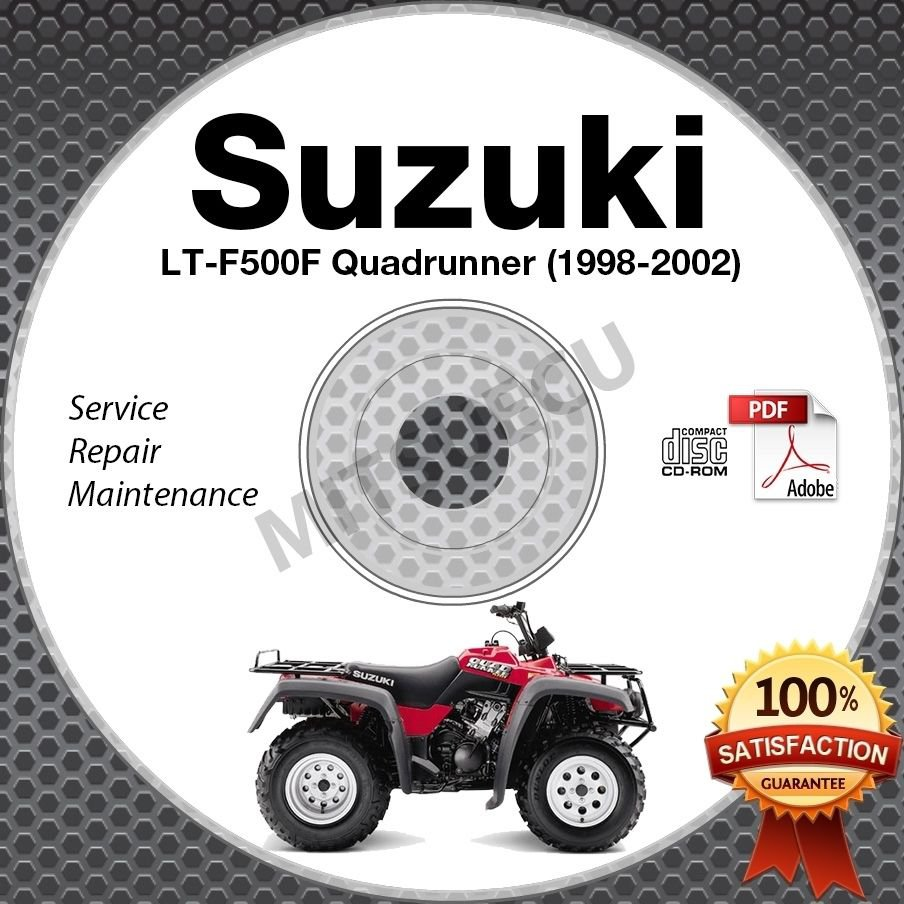 1998 2002 suzuki lt f500f quadrunner 500 service manual cd atv 1999 rh ecrater com Suzuki LT F500F Parts Suzuki LT F500F Parts