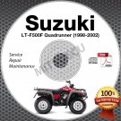 1998-2002 Suzuki LT-F500F QuadRunner 500 Service Manual CD ATV 1999 2000 2001