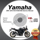 2001-2013 Yamaha FZ1 FZS1000 FAZER (all models) Service Manual CD repair shop