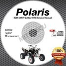 2006-2007 Polaris OUTLAW 500 ATV Service Manual CD ROM shop repair