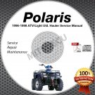 1996 1997 1998 Polaris Trail Blazer/Boss/Xplorer/Magnum Service Manual CD repair