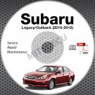 2010-2012 SUBARU LEGACY & OUTBACK 2.5L 3.6L Service Repair Manual CD ROM