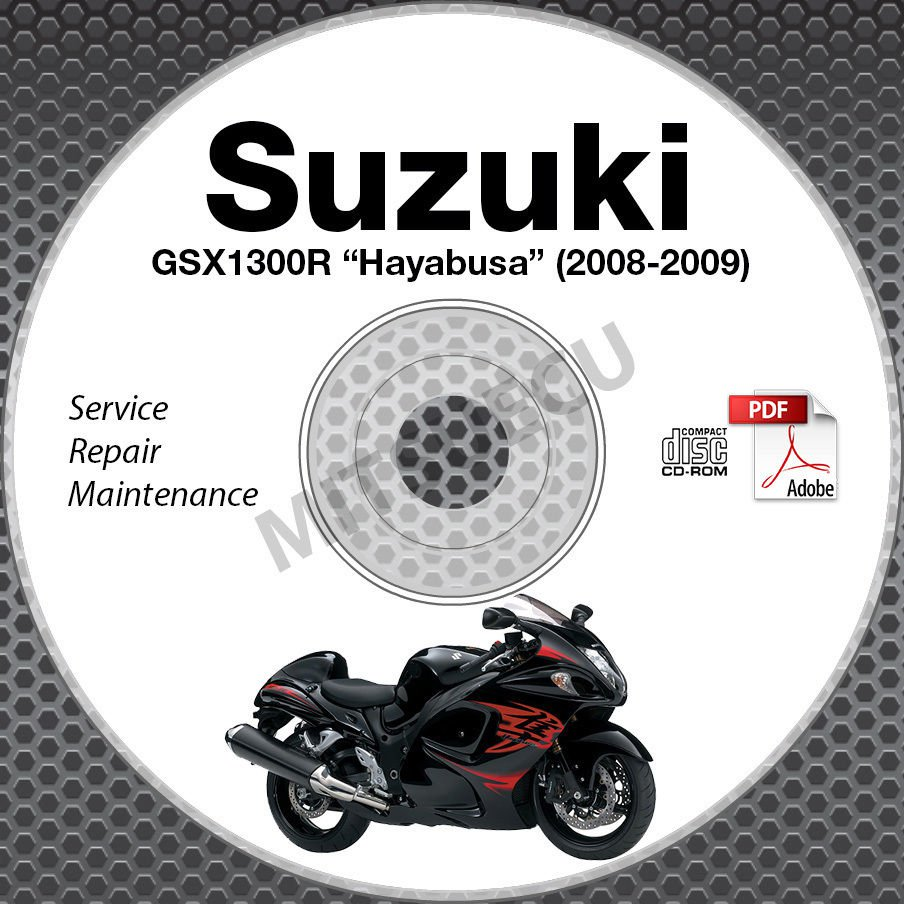 2008-2009 Suzuki Hayabusa GSX1300R Service Repair Manual CD ROM K8 K9 workshop