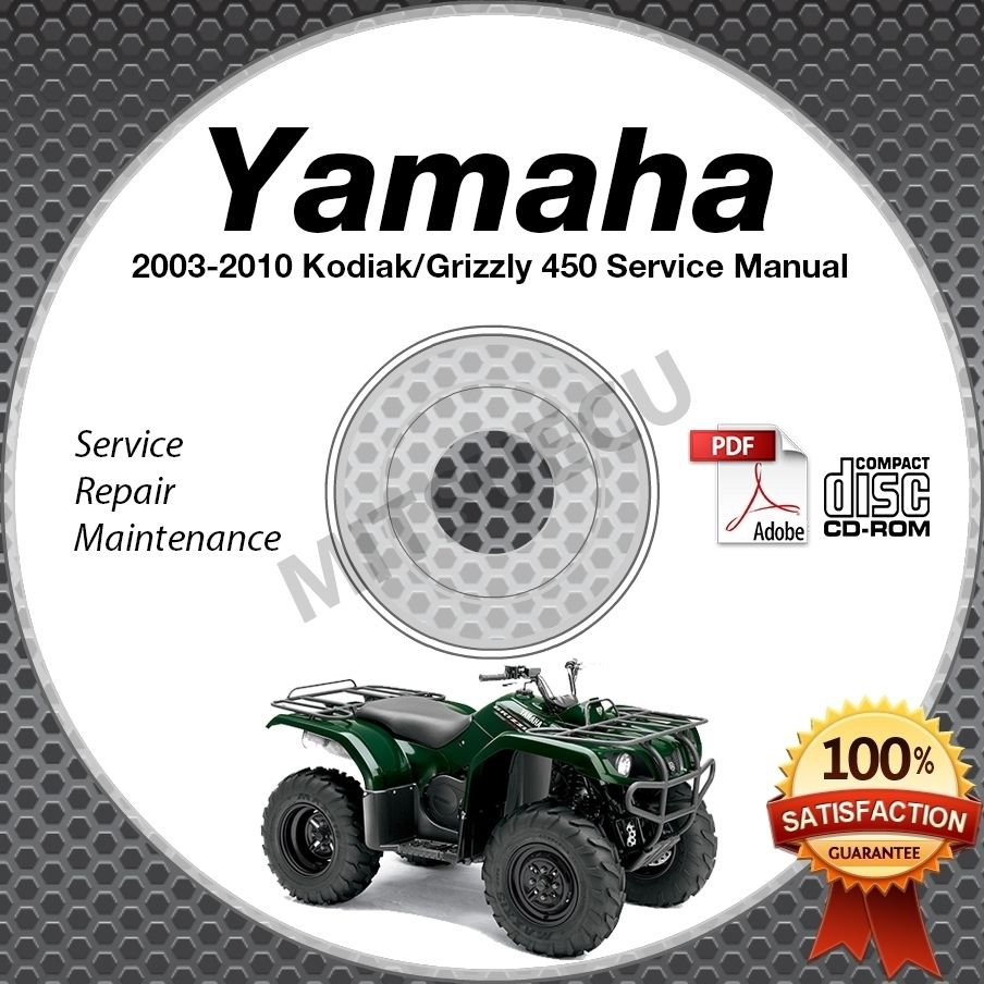 2003-2010 Yamaha KODIAK / GRIZZLY 450 YFM45/YFM450 4WD Service Manual CD ROM