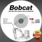 Bobcat 442 Mini Excavator Service Manual CD ROM (Serial #s Listed) repair shop