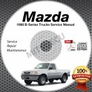 1996 Mazda B-Series Service Manual CD ROM workshop repair B2300 B3000 B4000 shop