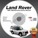 1995-1998 Land Rover DISCOVERY Service Manual CD repair 3.9L 4.0L 2.5L TDi 2.0L