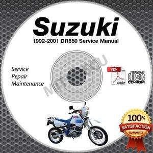1992-1995 Suzuki DR650R DR650S Service Manual CD ROM Repair 1993 1994 Canada