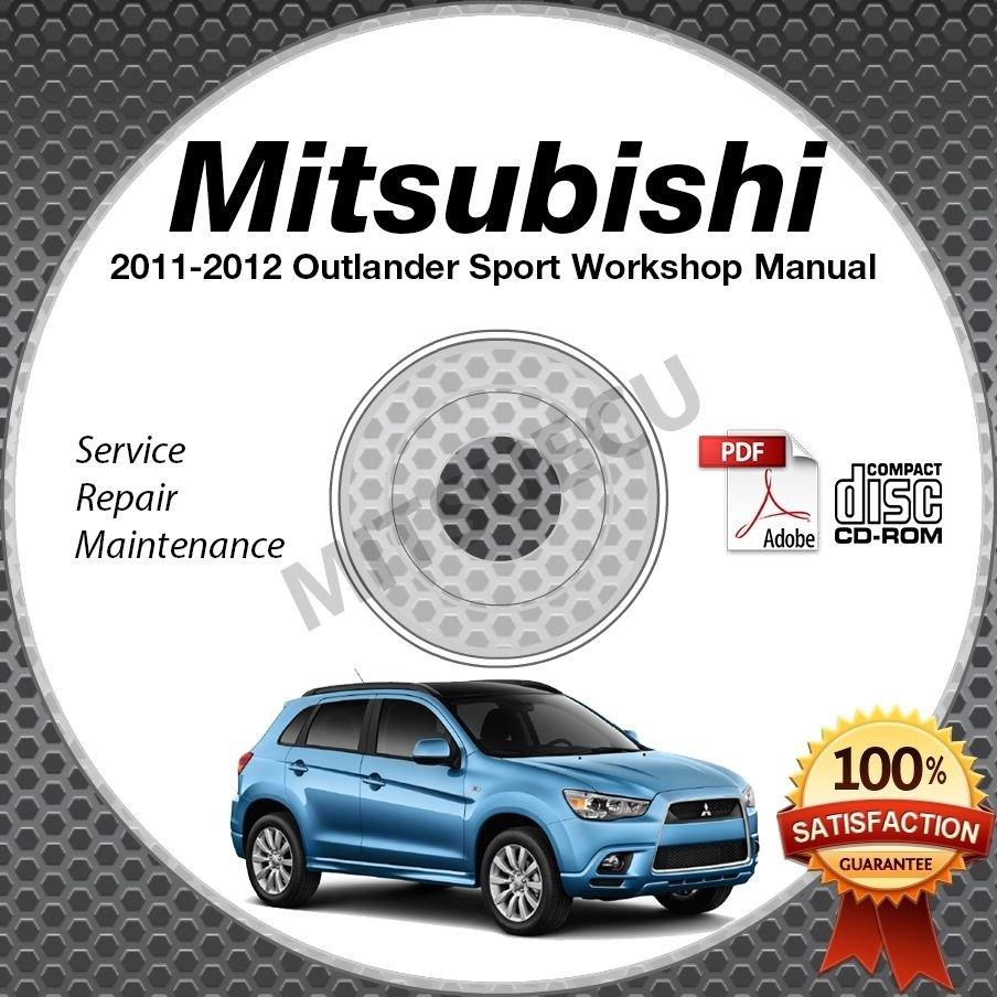 2011-2012 Mitsubishi Outlander Sport RVR 2.0L Service Manual CD ROM repair  shop