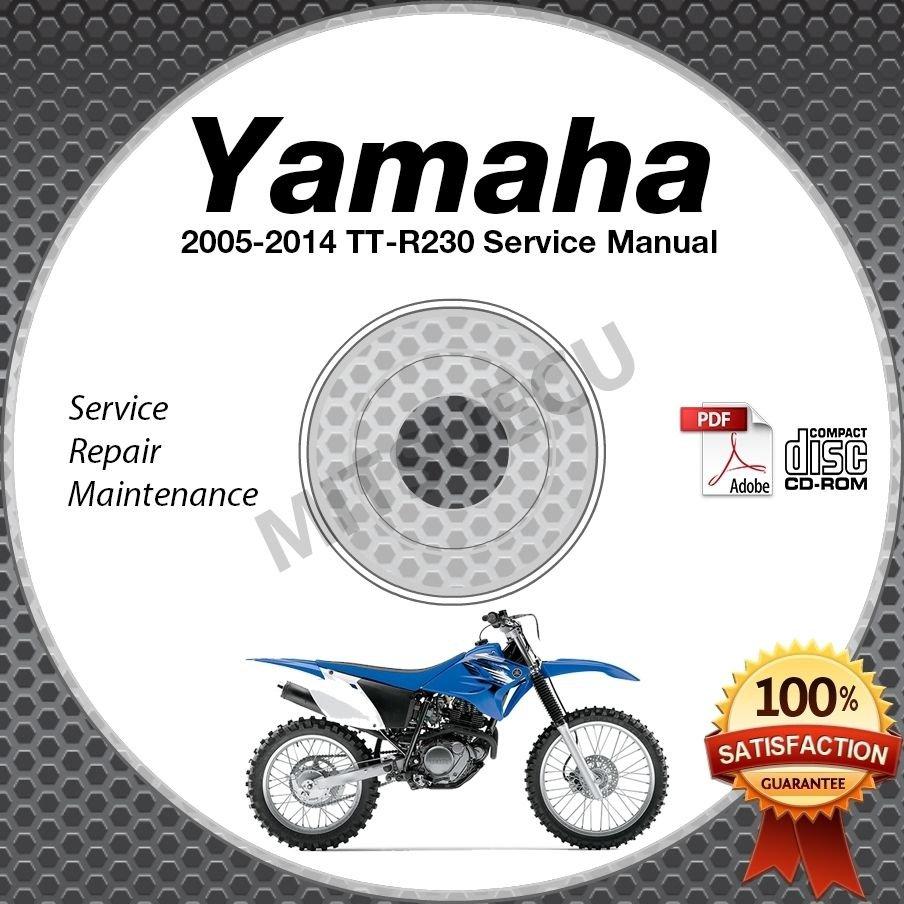 2005-2014 Yamaha TT-R230 Service Manual CD ROM repair shop TT R 230 2013 2012