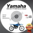 2005-2014 Yamaha TT-R230 Service Manual CD ROM repair shop TT R 230 2013 2012