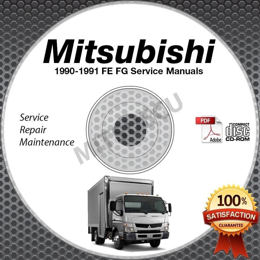 1990-1991 Mitsubishi FUSO FE FG Service Manual CD ROM repair shop 4D31T 4D31T2