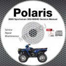 2009 Polaris Sportsman 300 / 400 H.O. Service Manual CD ROM ATV repair shop