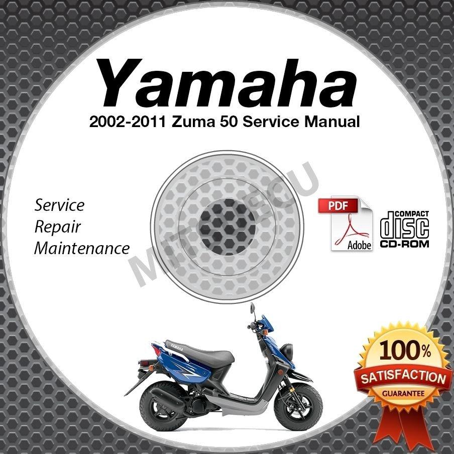 2002-2011 Yamaha ZUMA 50 Scooter Service Manual CD ROM repair shop 03 04 05 06