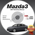2007 Mazda3 / Mazdaspeed3 Service Manual CD ROM workshop repair 2.0L 2.3L *NEW*