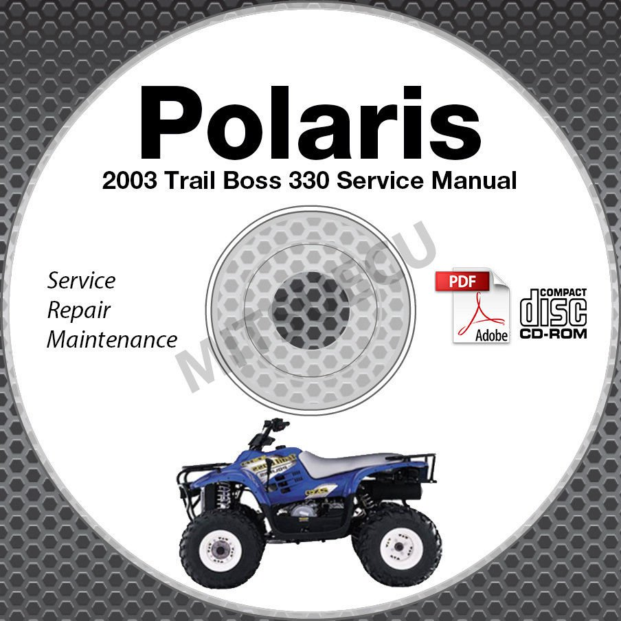2003 Polaris Trail Boss ATV Service Manual CD ROM repair shop