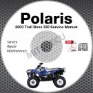2003 Polaris Trail Boss ATV Service Manual CD ROM repair shop
