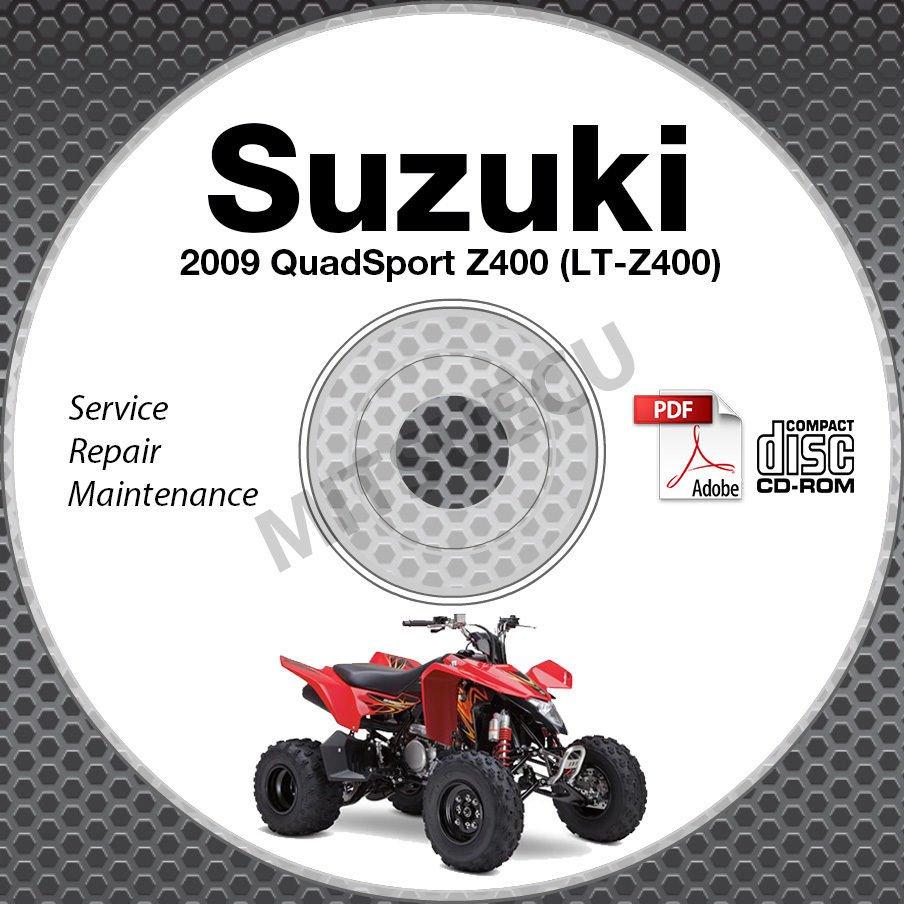 2009 Suzuki QuadSport Z400 LT-Z400 Service Manual CD ROM repair LTZ400